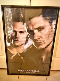 """Supernatural"" Dean & Sam Full-Sized Framed Poster-New Shape!"