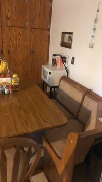 Kitchen table with booth seating