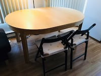 Round wooden dining table extendable NEWWESTMINSTER