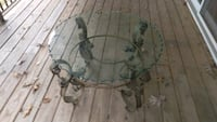 Round glass coffee table with Iron frame Silver Spring, 20904