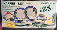 Kaffee Set palm beach keramiska plattor box Täby, 183 39