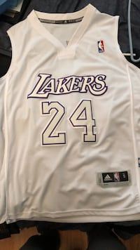 white and blue Los Angeles Lakers Kobe Bryant jersey Burbank, 91505