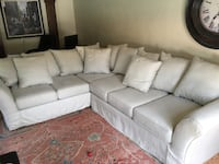 white leather sectional sofa with throw pillows Fort Myers, 33901