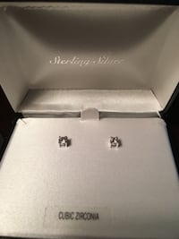 Cubic zirconia pink studs set in sterling silver (never worn) Cherry Hill, 08034