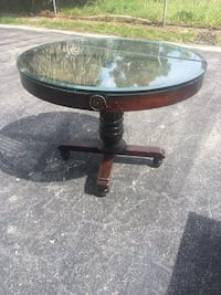 Solid wood table glass top (delivery available ) Boynton Beach, 33436