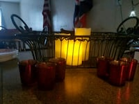 Holiday Decor. Votives. Faux candles and wrought u 1945 mi