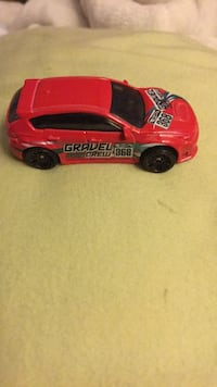 Subaru red gravel crew car die-cast model 27 km