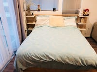 Set of queen size bed and mattress  Culver City