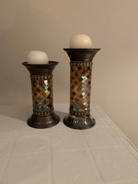 Partylite mosaic candle holders