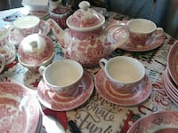 red-and-white toile ceramic dinnerware set Spartanburg, 29303
