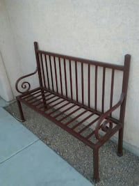 brown wooden bench Tucson, 85746