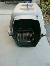 white and black pet carrier Surrey, V3X 2W9