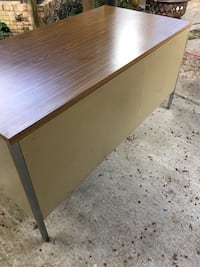 """Metal desk (30x60"""") solid sturdy!  all drawers work. no holds please! Denham Springs, 70726"""