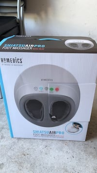 Brand new in box never used homemedics shiatsu air pro foot massager with heat. Sterling, 20165