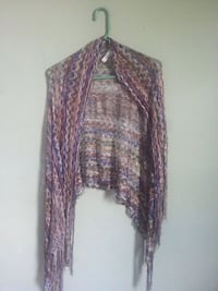 Chicos Multicolored Crochet Scarf Washington, 20011