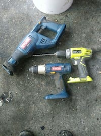 two black and red cordless power tools Virginia Beach, 23462