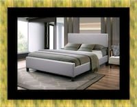Grey platform bed with mattress all size Upper Marlboro, 20772