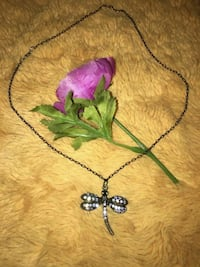 silver-colored butterfly pendant necklace Calgary, T2J 0B9