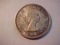 Full Luster Satin 1963 Silver Dollar Young Queen LONDON