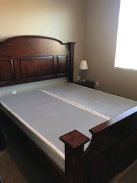 California King Bed with spring box  2214 mi