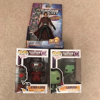 NEW Marvel guardians of galaxy starlord figure and pop funko gamora toys Burtonsville, 20866