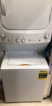MINT condition- Washer and dryer- GE Electric Stacked Laundry Center with 3.2-cu ft Washer and 5.9-cu ft Dryer (White) Alexandria, 22305