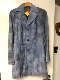 BNWT Anonymous by John Carlisle blue suede jacket sz S