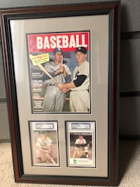 Mickey Mantle and Duke Snider PSA Signed Cards with Rare Mag Framed New York, 11375