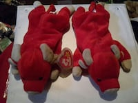 two red cow Ty Beanie Babies collectibles Terre Haute, 47802