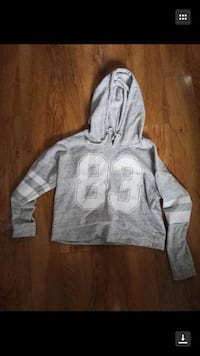 gray and white pullover hoodie Calgary, T3K 3Y3