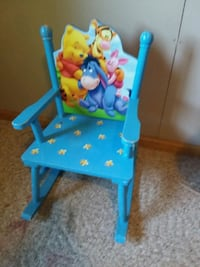 baby's blue and yellow high chair Cedar Rapids, 52405