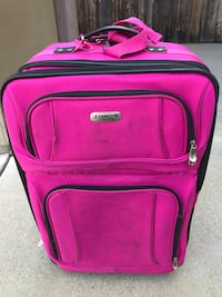 Pink carry-on suitcase San Diego, 92103