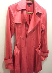 red leather double-breasted trench coat Roseville, 95678