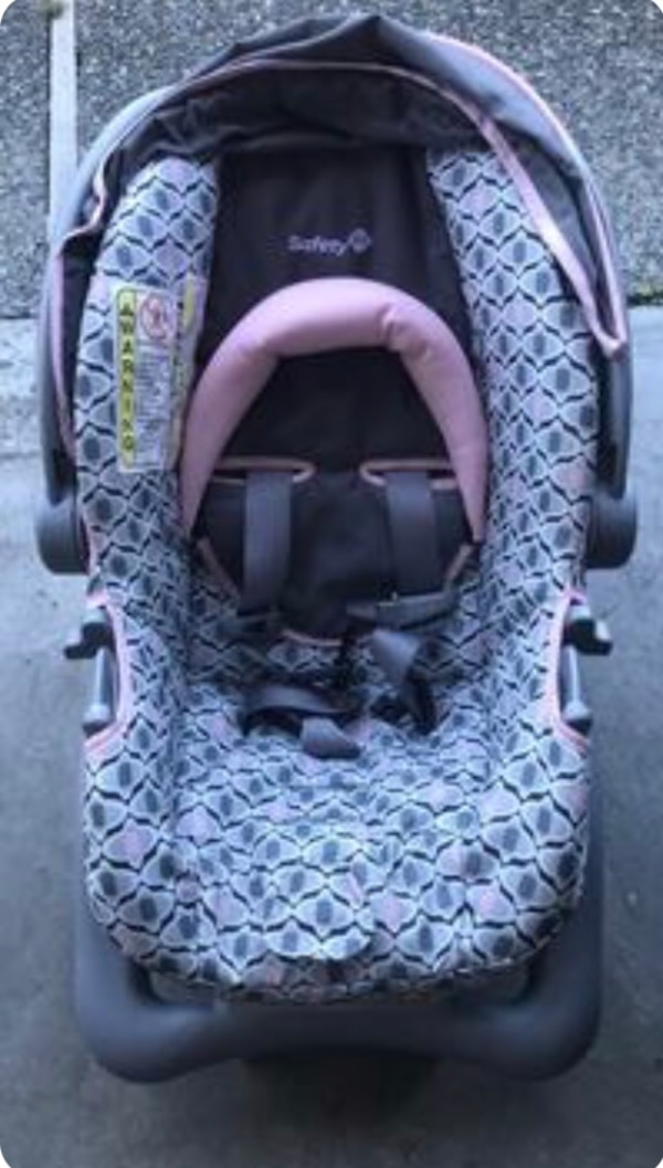 baby's gray and purple car seat carrier c656d3ca-455b-4e40-973a-2e21c60a5acb