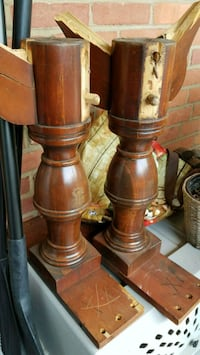 Antique mahogany pedestals for repair/repurposing  Arlington, 22209
