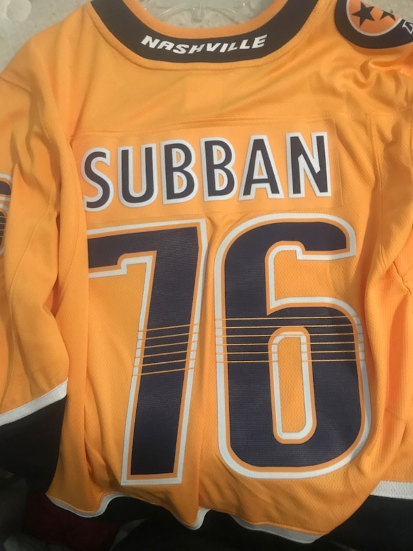 on sale 9f33b 575d6 Men's S fanatics PK Subban Jersey. Paid $170 only wore 2 times. Meet me in  Hendersonville