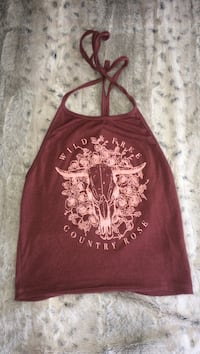 women's red and white floral tank top Kelowna, V1X 3Z6