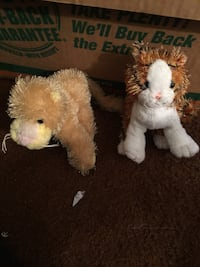 two white and brown bear plush toys South Bend, 46616