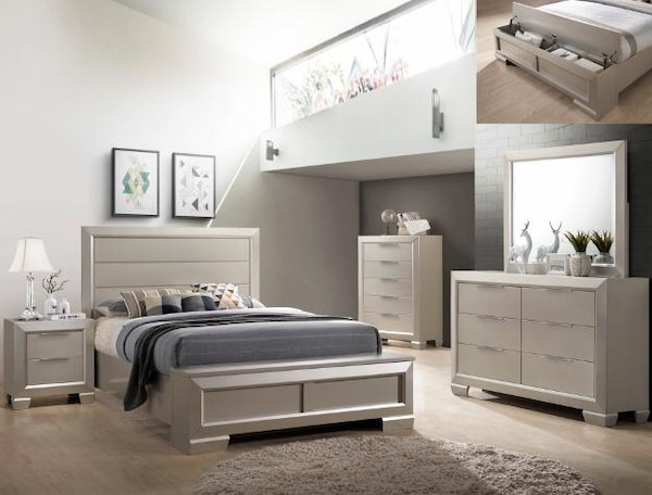 Used NEW! Paloma B4820 5-Piece Bedroom Set Crown Mark Queen for sale ...