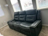 Leather reclining gray couch Antioch