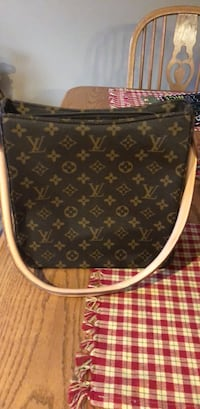 monogrammed brown Louis Vuitton leather tote bag Smithsburg, 21783