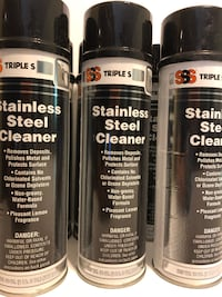 1 CASE OF 12 18-OUNCE STAINLESS STEEL CLEANERS