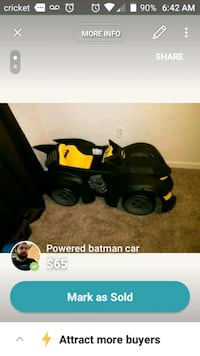 Batman Power Wheels 236 mi