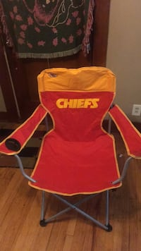 Red and yellow coleman camping chair Kansas City, 64130