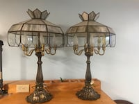 Beautiful glass etched lamps