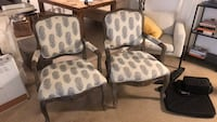 brown wooden frame white and brown floral padded armchair Los Angeles, 90046