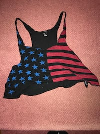 black and blue sleeveless top Mississauga, L5K