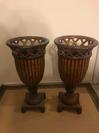 two brown wooden floor vases Yuma, 85365
