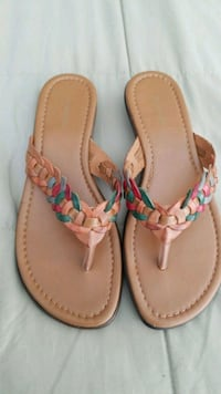 pair of brown leather thong sandals Suitland-Silver Hill, 20746