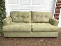 Green suede 2-seat sofa $50 Franklin, 37069